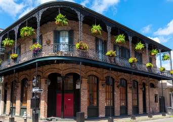 Traditional house in the French Quarter New Orleans USA