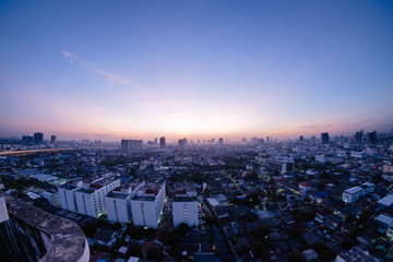 morning time view of Bangkok, Thailand