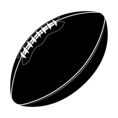 Sport equipment. Rugby ball. American football ball isolated on a white background. Sport game.