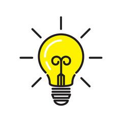 light bulb icon isolated on white background. Vector illustration