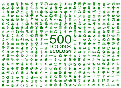 Set of 500 ecology icons – vector
