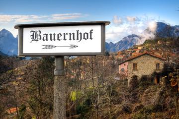 Schild 184 - Bauernhof