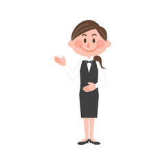 vector illustration of a hotel worker