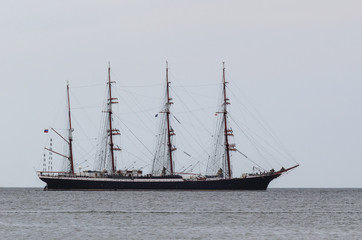 SAILING VESSEL - Silhouette of the Russian sailing ship Sedov