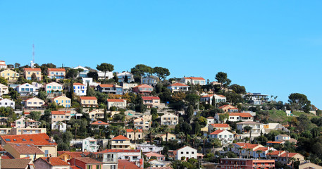 residential area on a hill - Hyères (FRANCE)