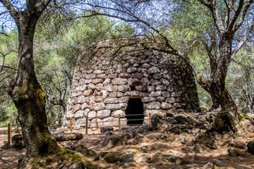 A nuraghe in the nuragic sanctuary of Santa Cristina, near Oristano, Sardinia, Italy