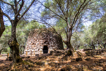 A nuraghe in the nuragic sanctuary of Santa Cristina, near Oristano, Sardinia, Italy