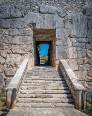 Megalithic walls in Alatri acropolis, province of Frosinone, Lazio, central Italy.