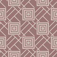 Geometric seamless pattern. Brown background