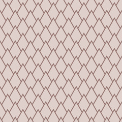 Geometric brown seamless pattern as background