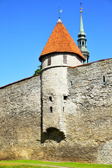 Wall Mural - City walls of Tallin