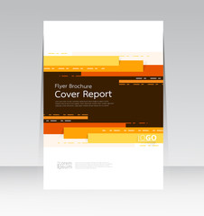 Vector abstract design cover report layout brochure poster template.