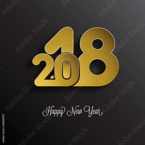 happy new year 2018 background carte de voeux new year greeting card new