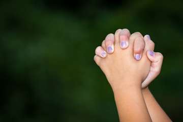 Clasped Hands Praying