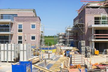 Wohnungsbau im Neubaugebiet