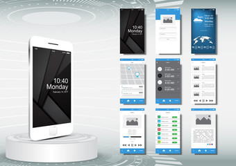 UI, UX for mobile application template concept