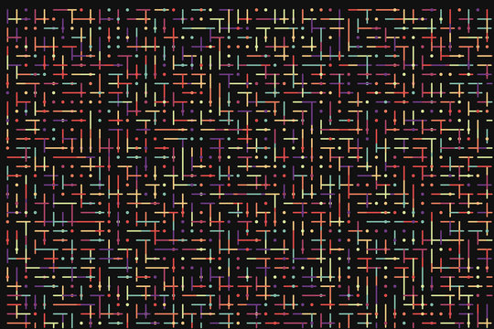 Dot line technology abstract background