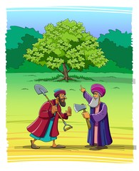 The parable of Jesus about the barren fig tree
