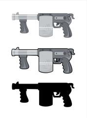 Machine Gun Vector Set