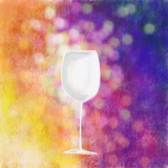 glass of wine emotion illustration