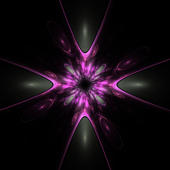 Purple Plastic Abstract Fractal Design