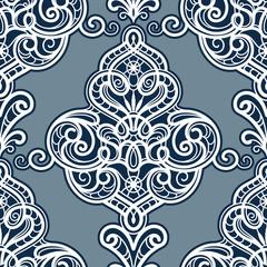 Damask ornament, seamless pattern