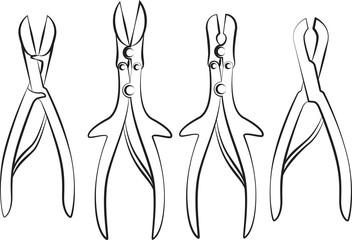 Bone cutter set