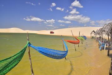entre lagunas et dunes au Brésil jericoacora