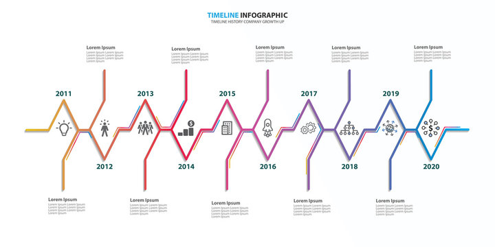Timeline Infographic Company 10 Years