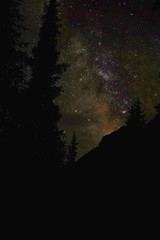 Milky Way mountains and forests