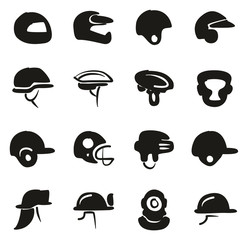 Helmet Icons Freehand Fill