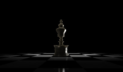3D Rendering of Chess pieces Queen. isolated on white background