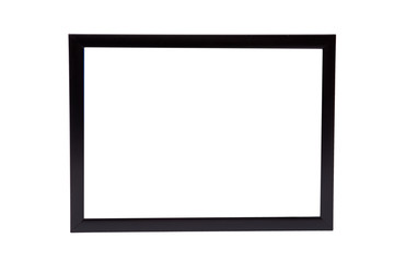 Classic black wooden frame isolated on white background
