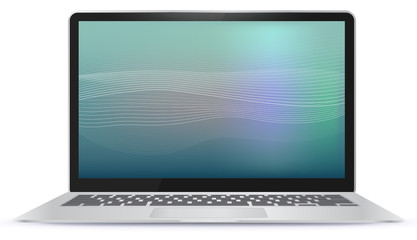 Laptop Computer With Abstract Screen