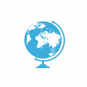 School globe icon isolated on white background