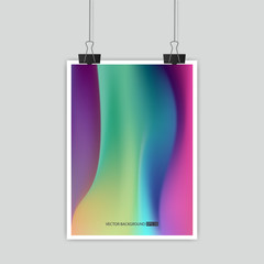 Hologram bright colorful background.