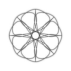 Symbols and symmetrical geometric pattern