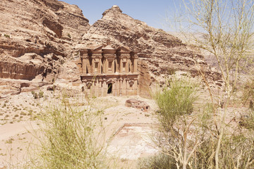 The Monastery mausoleum at Petra Jordan