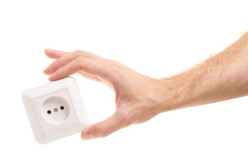 Electric socket in the hand