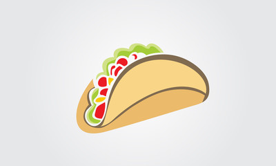 Tacos illustration Logo