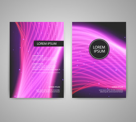 Brochure flyer layouts with abstract colorful background