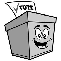 Ballot Box Cartoon Illustration