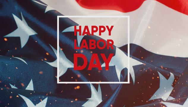 Happy labor day banner.American Patriotic background.