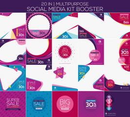 Multipurpose social media kit booster