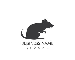 Black Silhouette Rat Logo