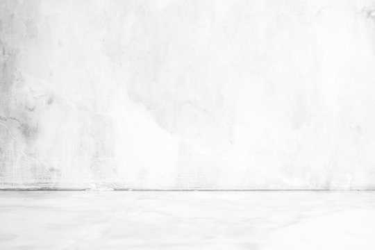 White Empty Marble Room Background.