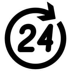 Number 24 in the circular arrow.