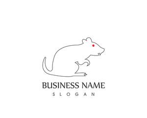 White Rat line Logo