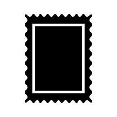 Stamp black color icon .