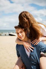 Couple on sea side